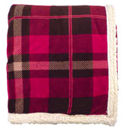 Custom Lambswool Microsherpa Plaid Throw