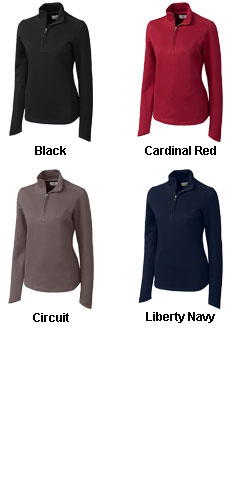 Ladies Decatur Pima Half Zip - All Colors