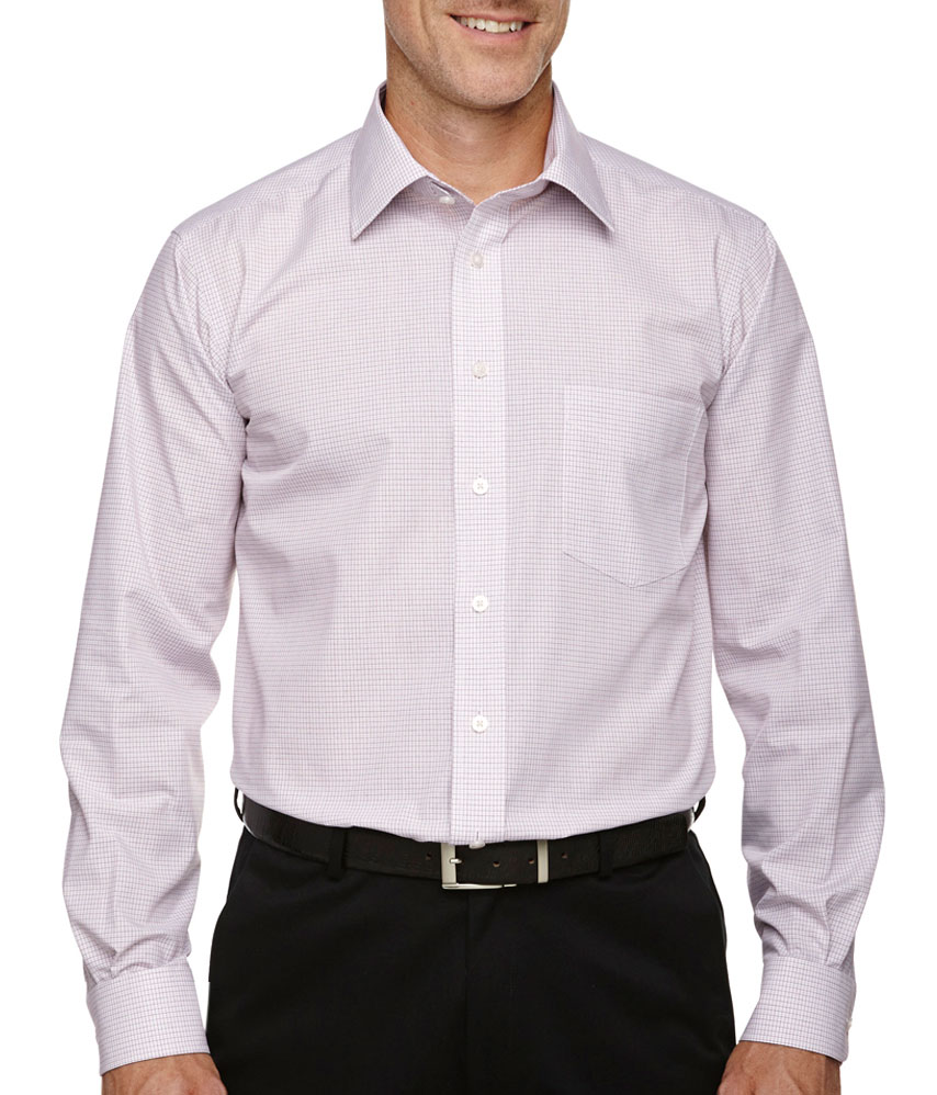 custom mens micro tattersall dress shirt