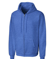 Custom Basic Fleece Full Zip Mens Hoodie
