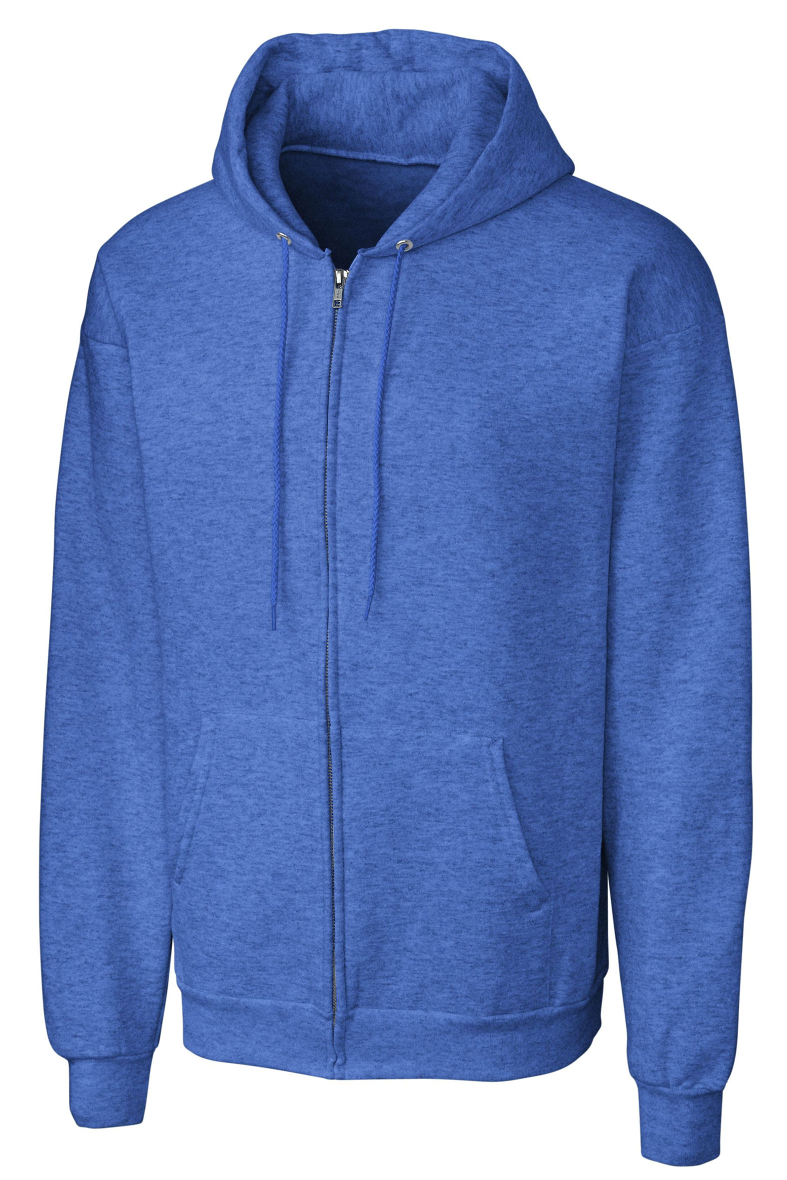 Basic Fleece Full Zip Mens Hoodie