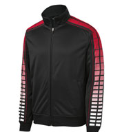Custom Dot Sublimation Mens Tricot Track Jacket Mens