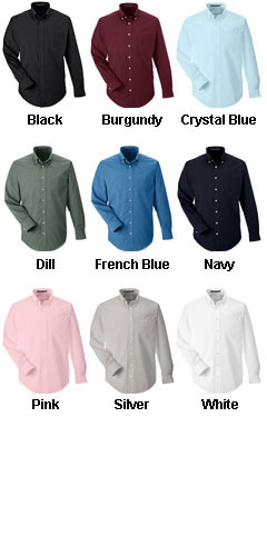 Mens Performance Solid Broadcloth Dress Shirt - All Colors