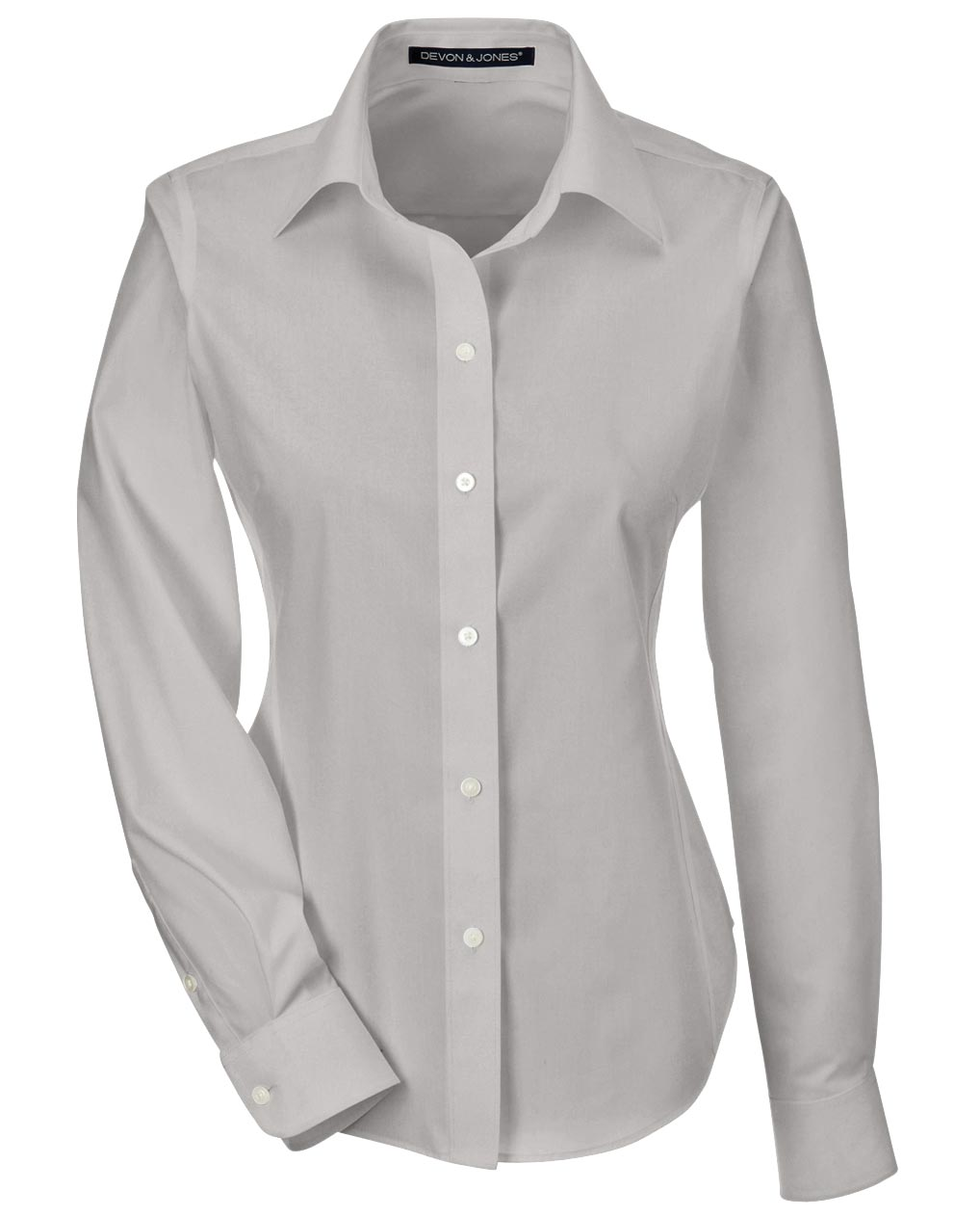 Ladies Performance Solid Broadcloth Dress Shirt