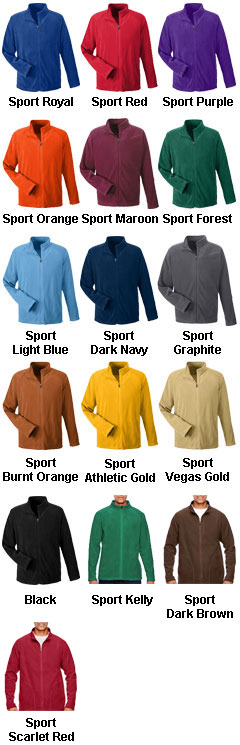 Mens Campus Microfleece Jacket - All Colors