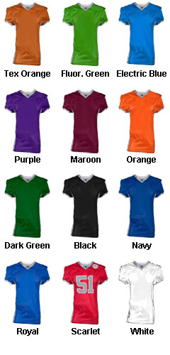Custom Adult Command Football Jersey - All Colors