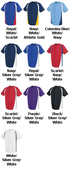 Adult Ace Full Button Jersey - All Colors