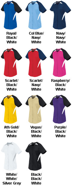Girls Galaxy Full Button Jersey - All Colors