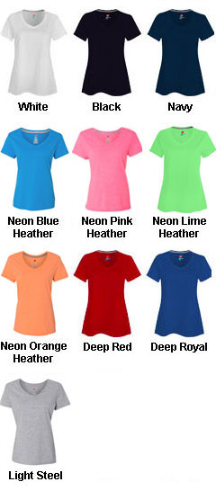 Hanes Womens X-Temp® V-Neck T-Shirt - All Colors