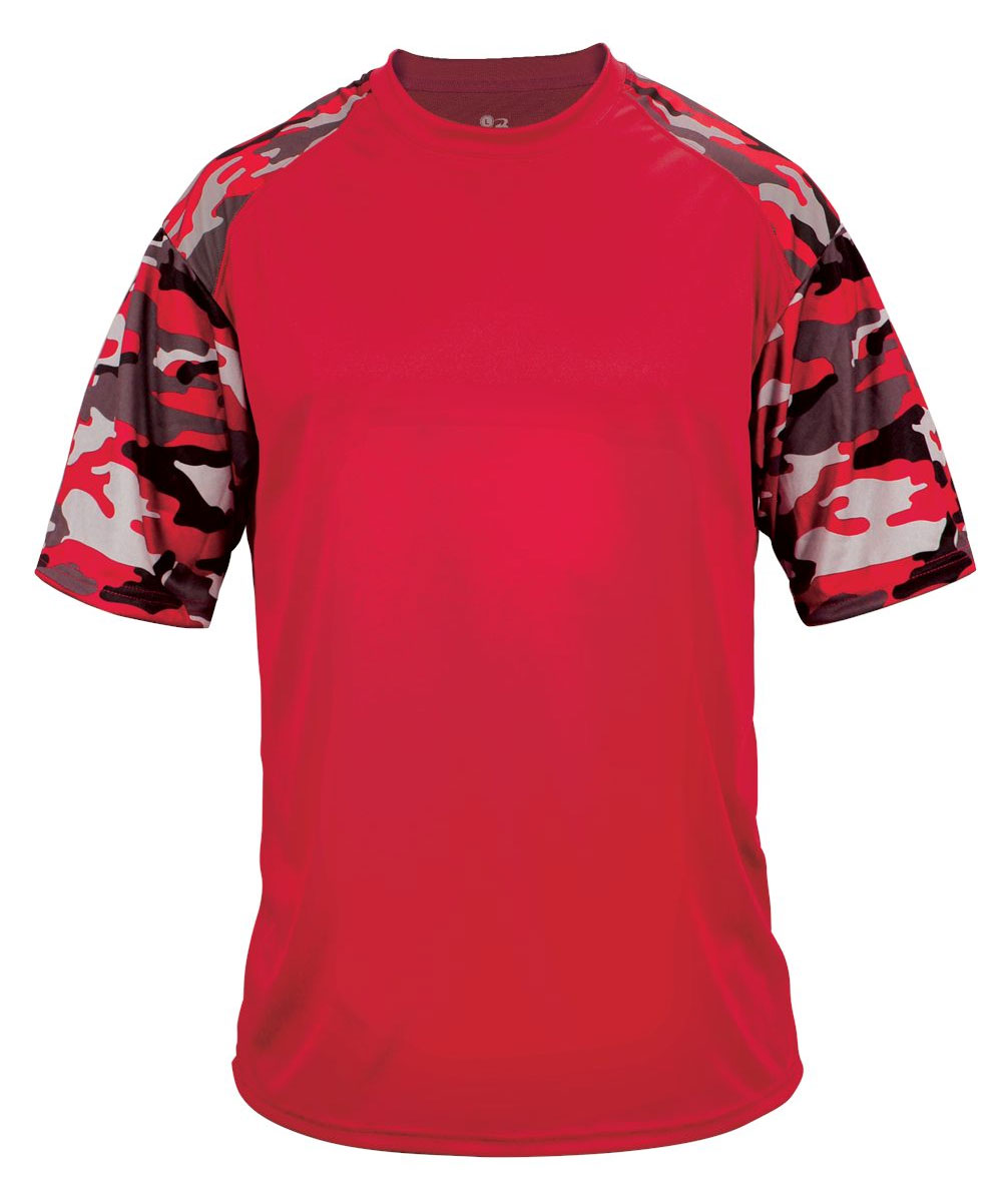 Badger Mens Camo Sport Tee