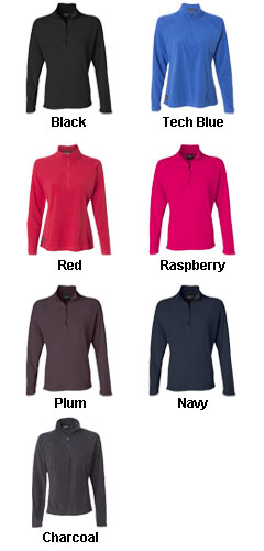 Dri Duck Fusion Ladies Quarter-Zip Nano Fleece Pullover - All Colors