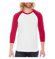 Custom American Apparel Unisex USA Made 3/4 Sleeve Raglan T-Shirt