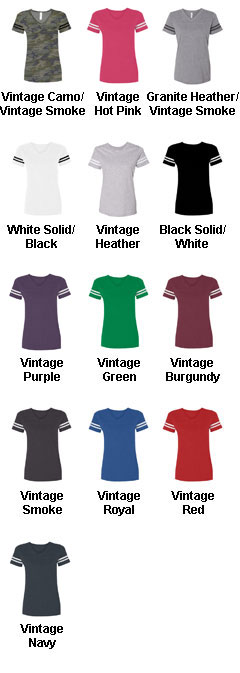 Ladies Vintage Football T-Shirt - All Colors