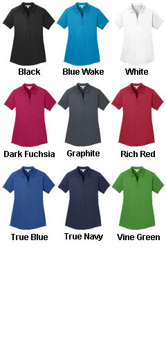 Ladies  Diamond Jacquard Polo - All Colors