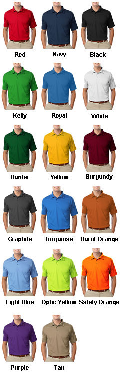 Mens Value Moisture Wicking Polo - All Colors