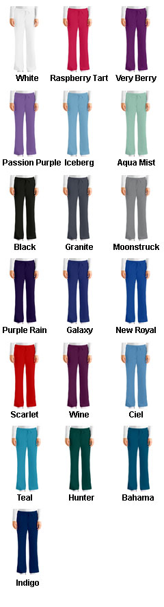 Greys Anatomy™ Ladies Tie Front Pants - All Colors