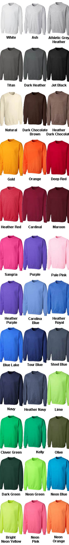 Mens Basic Fleece Crew  - All Colors