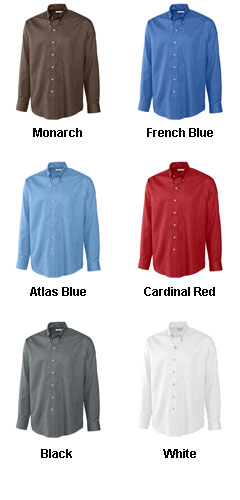 Mens Big and Tall Epic Easy Care Nailshead Shirt by Cutter & Buck - All Colors