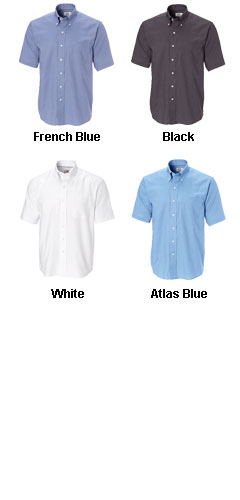 Mens Big and Tall Epic Easy Care Short Sleeve Nailshead Shirt by Cutter & Buck - All Colors