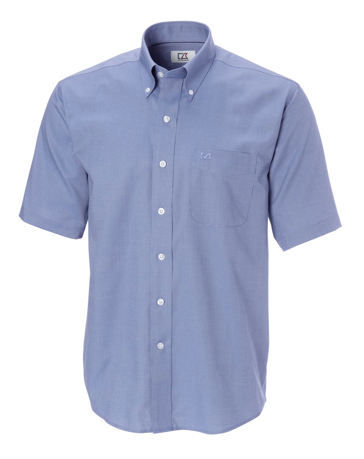 Cutter & Buck Mens Big and Tall Epic Easy Care Short Sleeve Nailshead Shirt