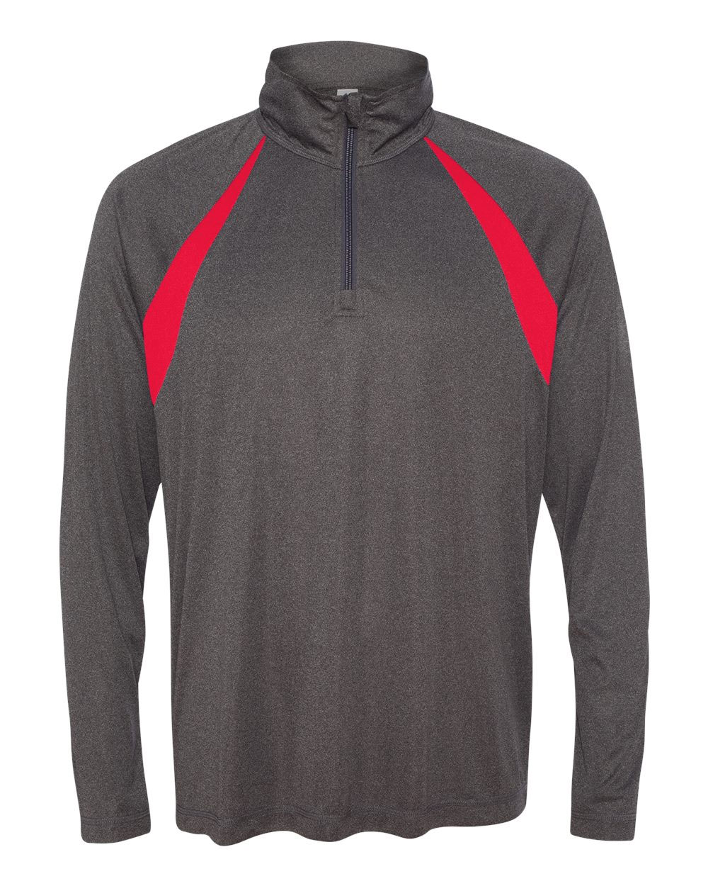 All Sport Mens Quarter-Zip Lightweight Pullover with Insets