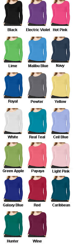 WonderWink® Silky Long Sleeve Base Layer Tee - All Colors