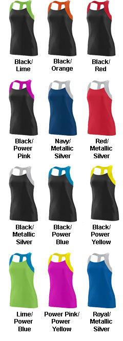 Ladies Jazzy Open Back Tank - All Colors
