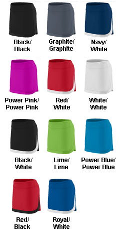 Ladies Action Color Block Skort - All Colors