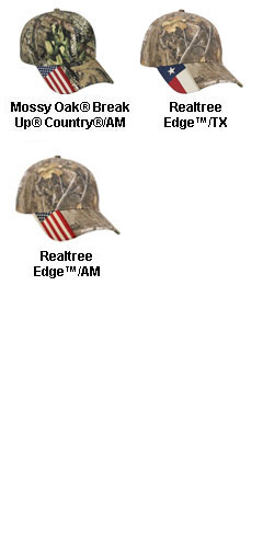 Camo Cap with Flag Accent - All Colors