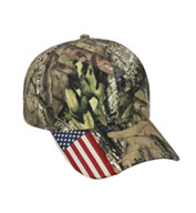 Custom Camo Cap with Flag Accent