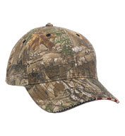 Custom Outdoor Cap American Flag Sandwich Camo Cap