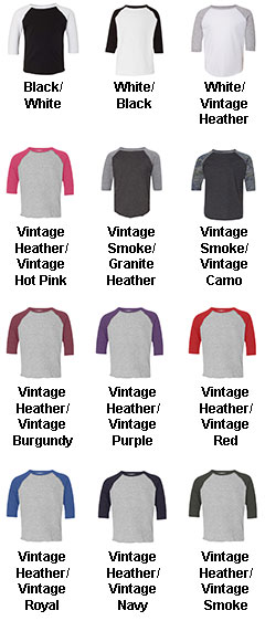 Toddler Fine Jersey 3/4 Sleeve Baseball T-Shirt - All Colors