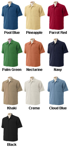 Mens Barbados Textured Camp Shirt - All Colors