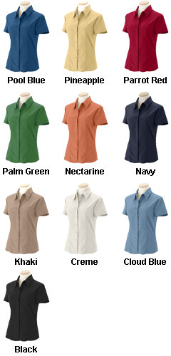Ladies Barbados Textured Camp Shirt - All Colors