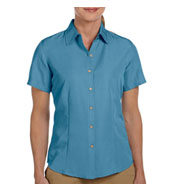 Custom Harriton Ladies Barbados Textured Camp Shirt