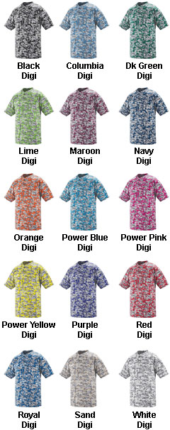 Custom Digi Camo Wicking Two-Button Adult  Baseball Jersey - All Colors