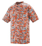 Custom Digi Camo Wicking Two-Button Adult Baseball Jersey
