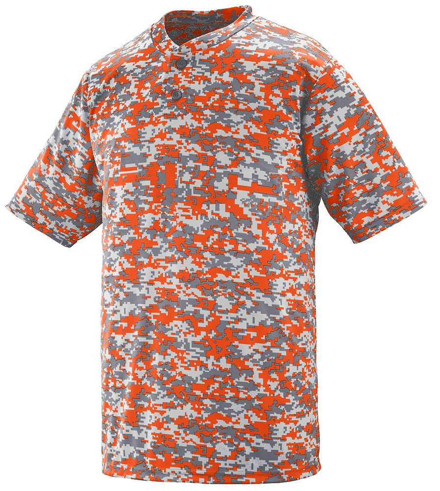 Augusta Adult Digi Camo Wicking Two-Button Jersey