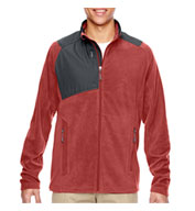 Custom Mens Excursion Trail Fabric-Block Fleece Jacket
