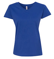 Custom LAT Ladies Fine Jersey V-Neck T-Shirt