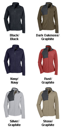 Ladies Excursion Trail Fabric-Block Fleece Jacket - All Colors