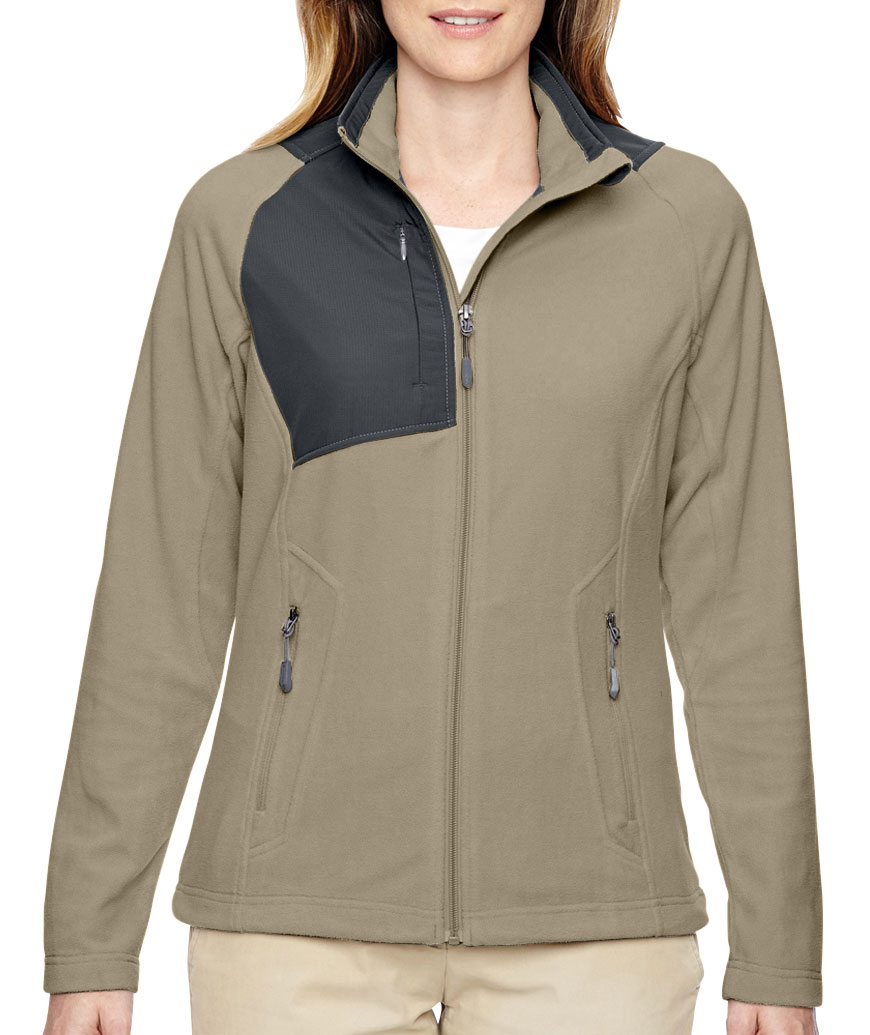Ladies Excursion Trail Fabric-Block Fleece Jacket