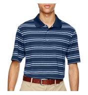 Custom Adidas Golf Puremotion® Textured Stripe Polo Mens