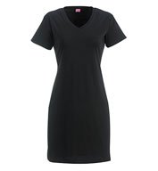 Custom LAT Ladies Fine Jersey V-Neck Coverup Dress