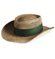Custom Sea Grass Straw Gambler Hat