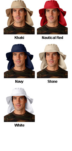Extreme Vacationer Bucket Cap with Neck Cape - All Colors