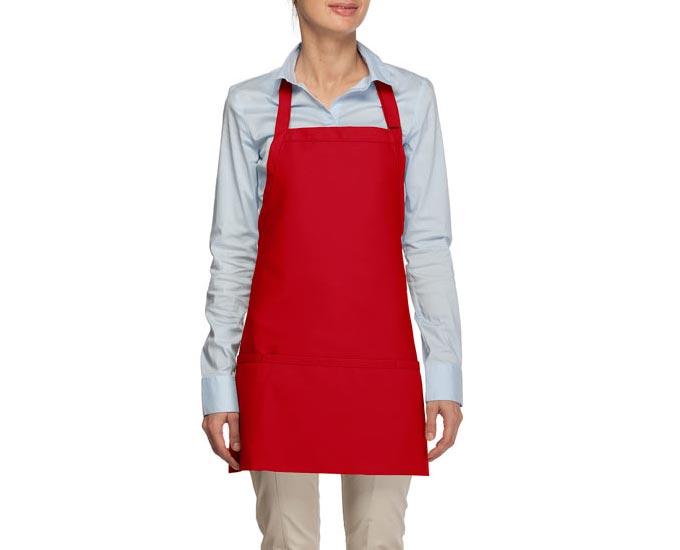 USA Made Three Pocket  Bib Apron