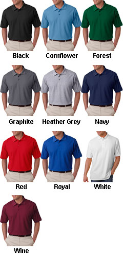UltraClub Mens Tall Whisper Pique Polo - All Colors