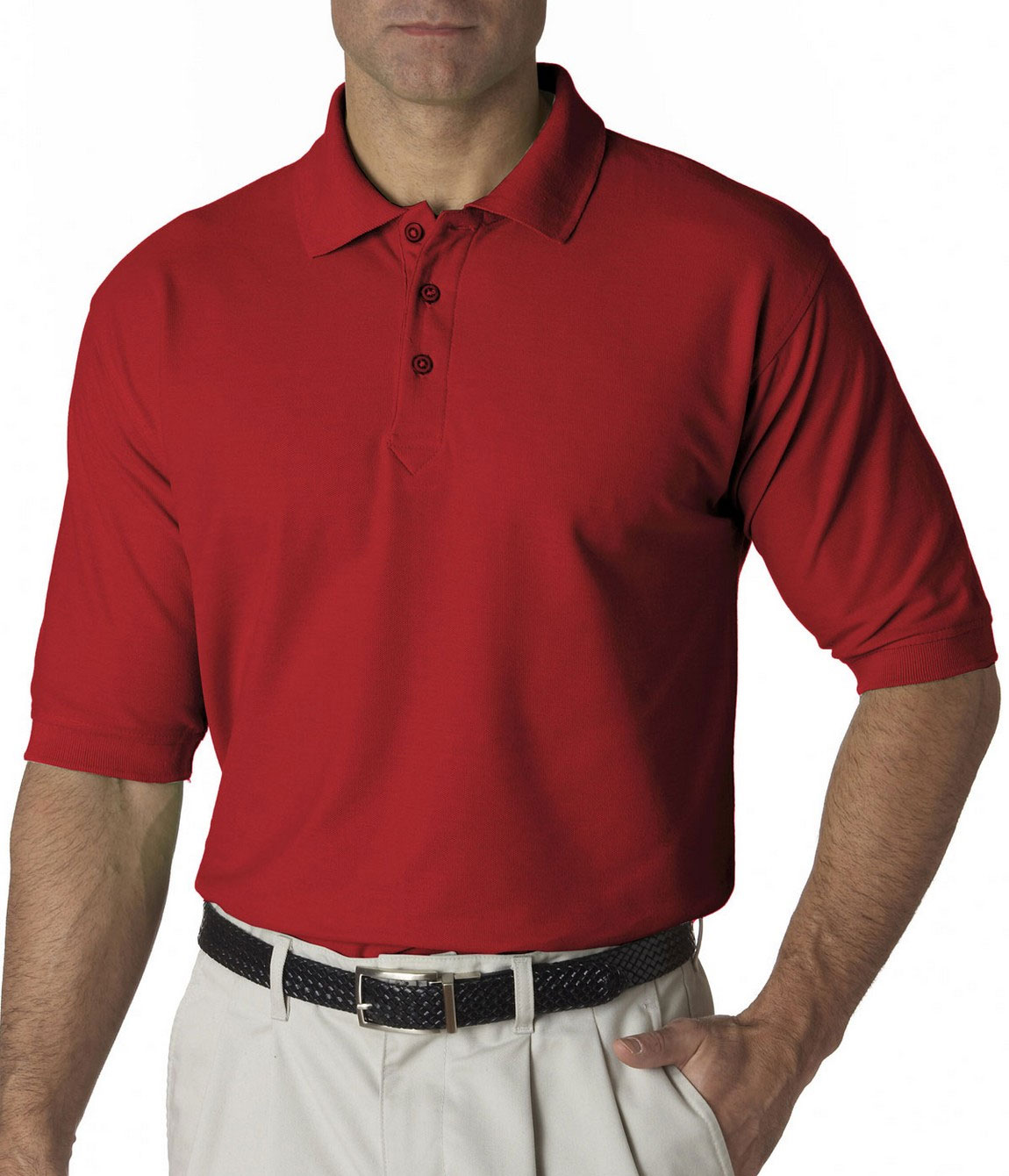 Custom Ultraclub Mens Tall Whisper Pique Polo