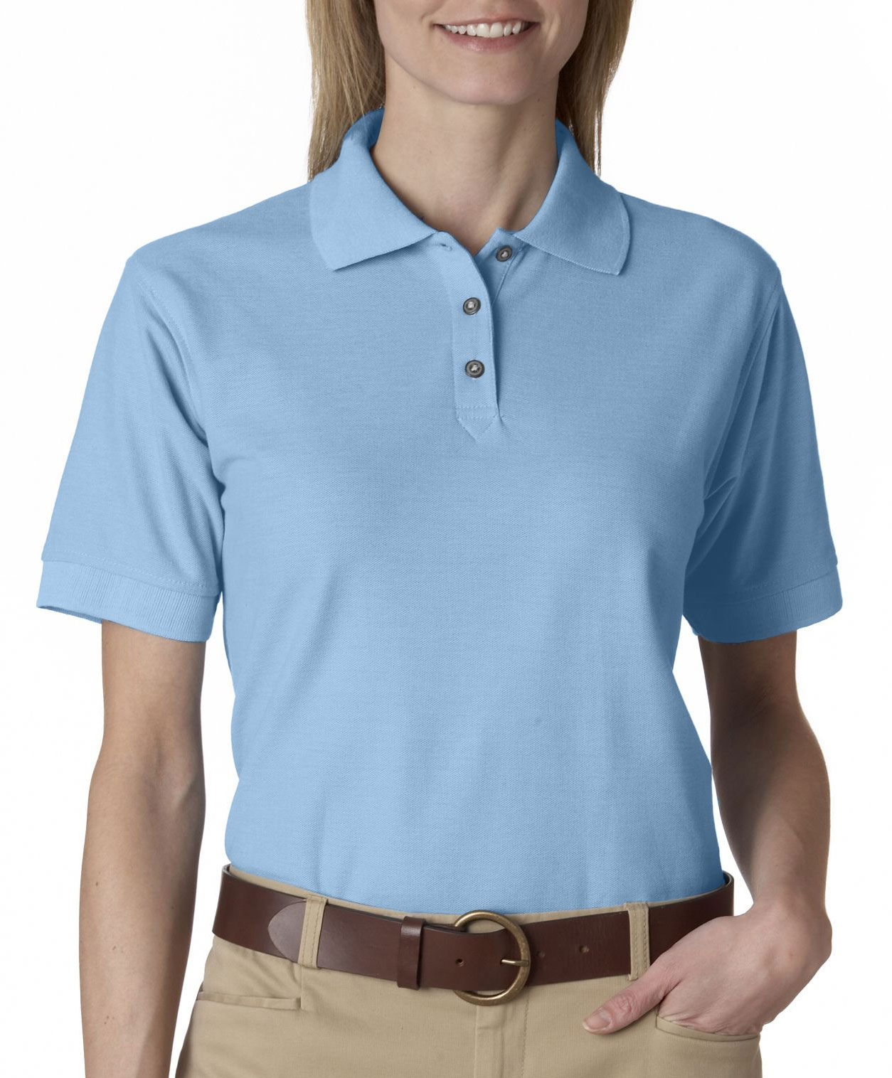 UltraClub Ladies Whisper Pique Polo